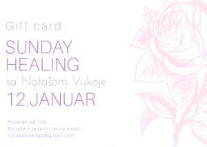 Sunday healing 12.januar- gift card